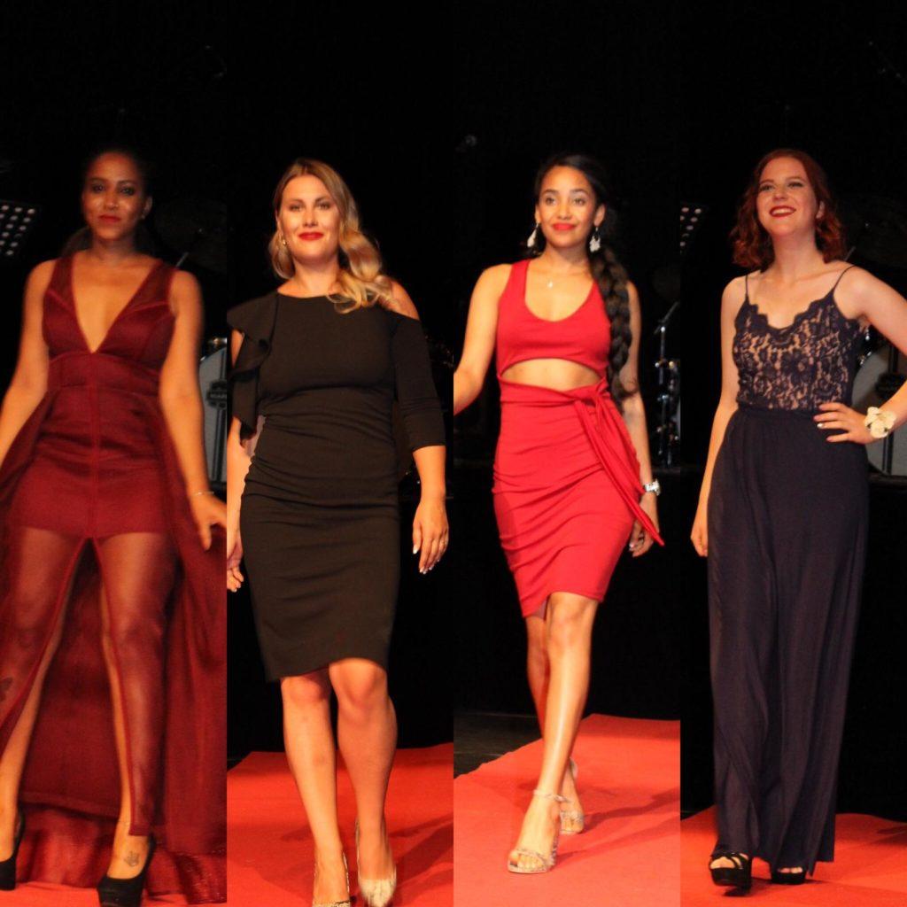 Modeshow - Eritrese en Nederlandse dames samen moderen kleding van Eritrea tonen
